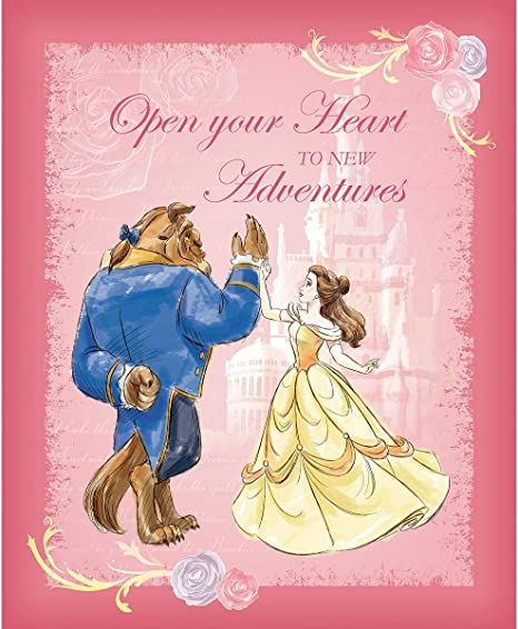 Disney Beauty and the Beast Belle Sister Glitter Birthday Card