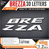 Carmetics Brezza Org Type 3D Letters For Maruti Suzuki Brezza Mirror Finish Brezza 3D Letters (Standard,Multi Colored)