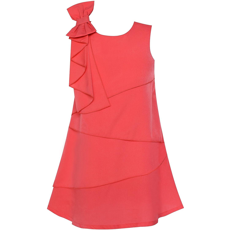 Sunny Fashion Girls Dress Jumpers Shift Dress Blocks Design O-Neck Age 7-14