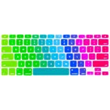"""Kuzy Keyboard New Rainbow Cover Silicone Case for Macbook Pro 13"""" 15"""" 17"""" (with or without Retina Display) iMac and Macbook Air 13"""" Rainbow"""