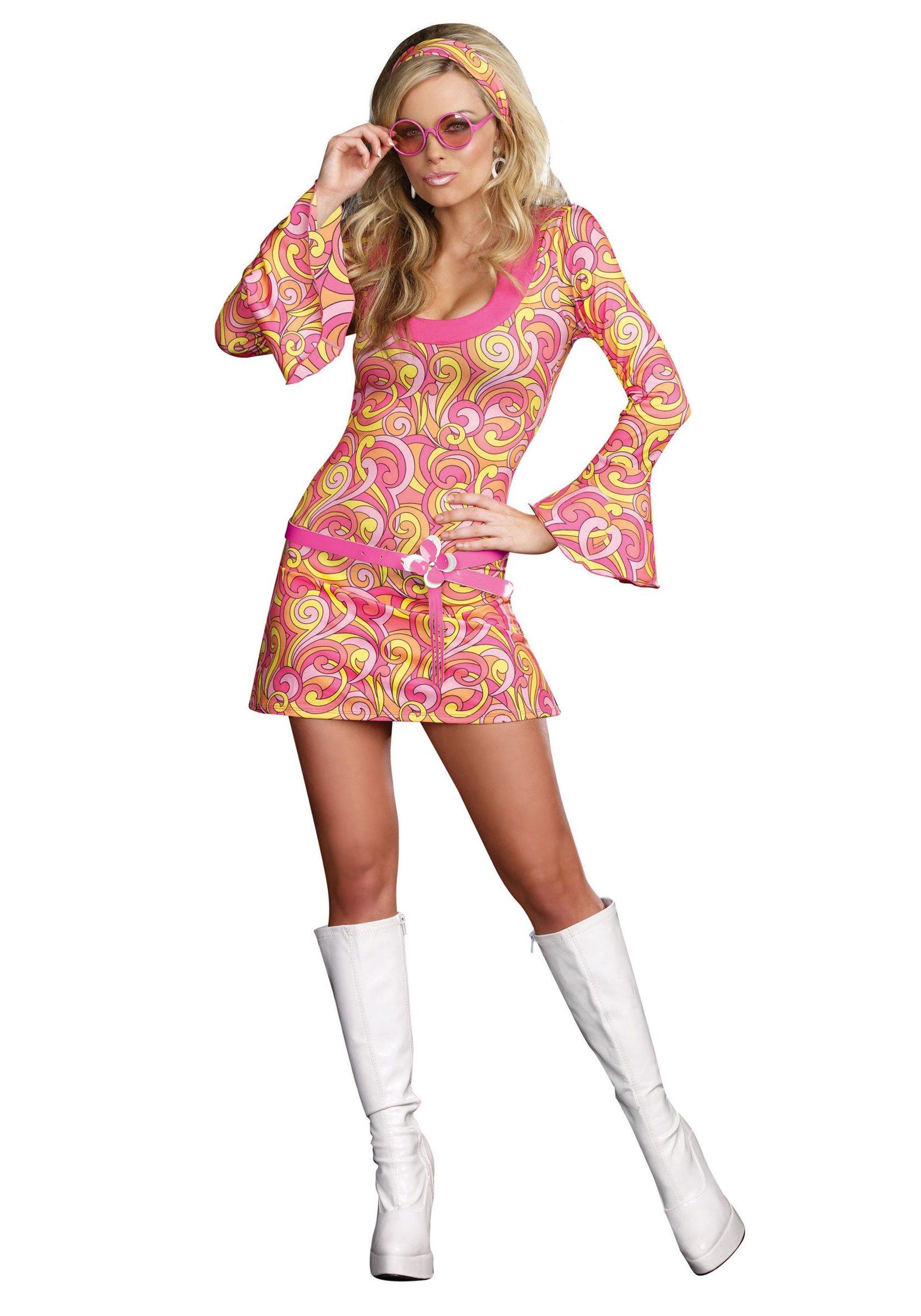 Dreamgirl Women's Go Go Gorgeous Costume, Multi, Small