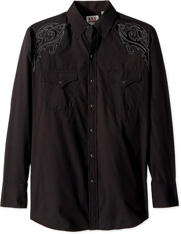 2XL Black Stripe WRANGLER Mens EMBROIDERED YOKE Shirt