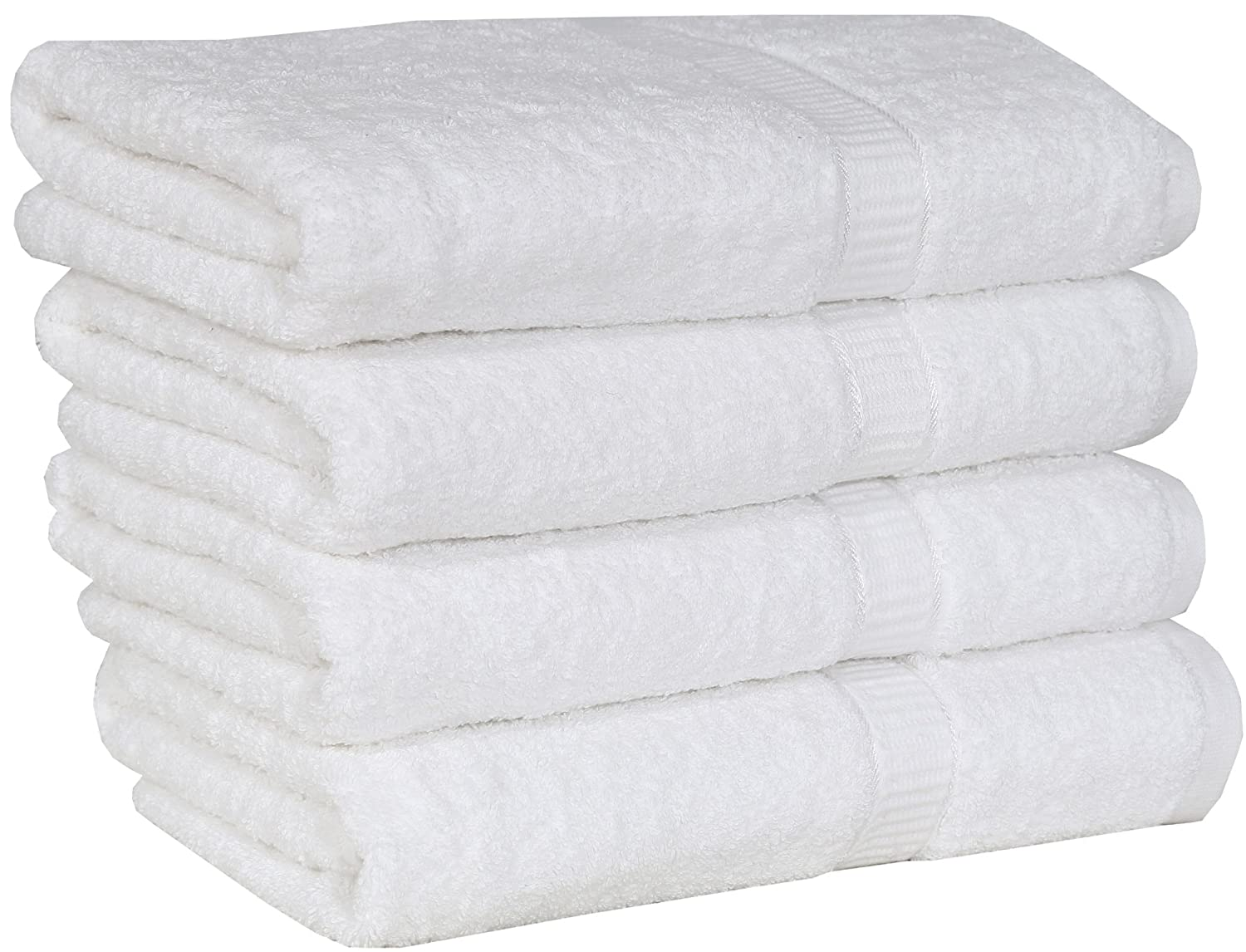 Amazon.com: Utopia Extra Thick and Plush Bath Towels - White - Pack ...