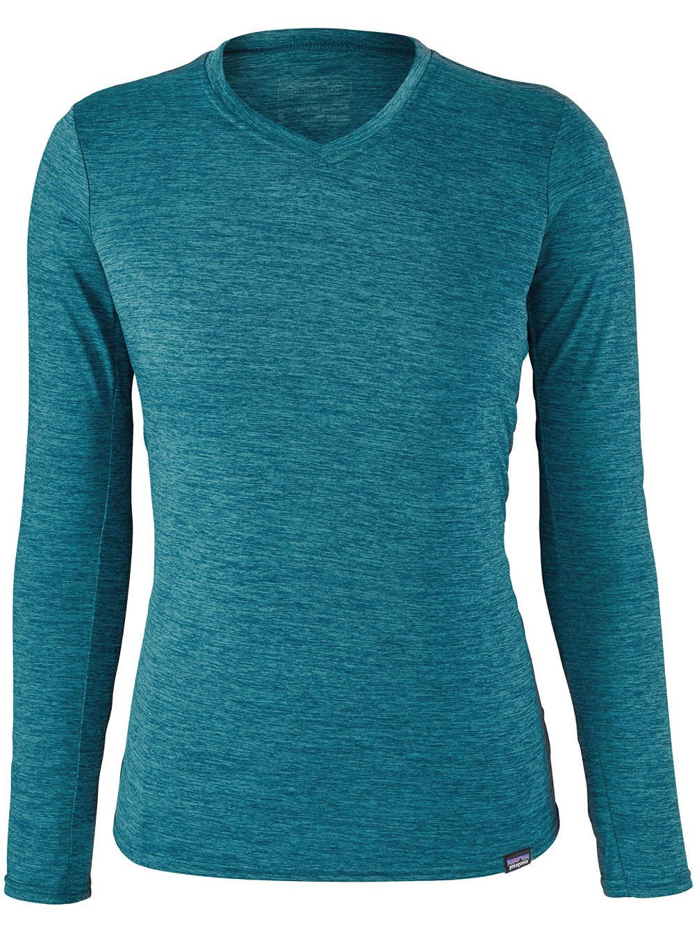 Patagonia Women's Capilene Daily Long-Sleeved T-Shirt - Elwha Blue Navy Blue X-Dye - Medium by Patagonia