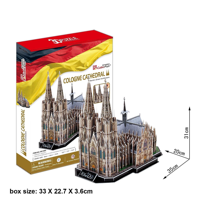 Puzzle 3D - Kö lner Dom, Kö ln, Deutschland Cubic Fun 771MC160 Architektur