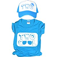 2nd Birthday T shirt and Hat, Kids second Birthday Party, Trucker Hat for Kids with Two Cool, 2nd Birthday Two Cool…