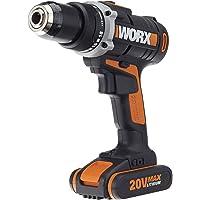 WORX WX183 Accuschroevendraaier, 20 V - 50 Nm, 2-versnellingsbak & ledlicht, accuboorschroevendraaierset voor boren en…