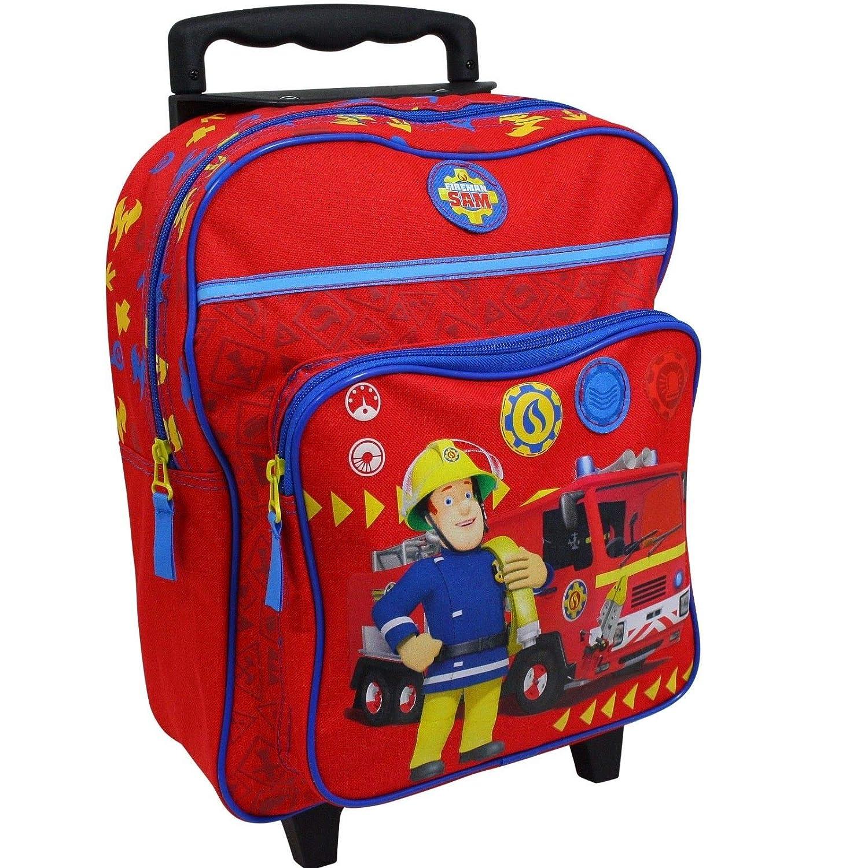 Unbekannt Feuerwehrmann Sam Trolley Koffer Kinderkoffer Rucksack Reisekoffer Rot 8998