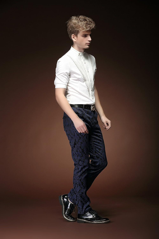 3106b646a5e64 FANZHUAN Camisas para Hombre De Moda Blanca Manga Corta Cuello Mao Slim Fit  Non Iron  Amazon.es  Ropa y accesorios