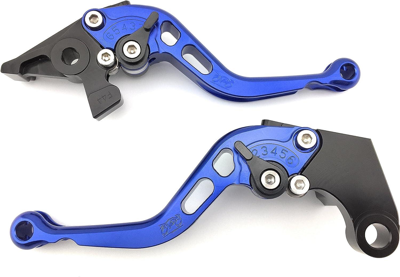 schwarz//blau Kurzer Kupplungshebel /& Bremshebel Set CNC Aluminium f/ür GSXR 750 2000-2003 /& GSX-R 600 K1 K2 K3 2001 02 2003