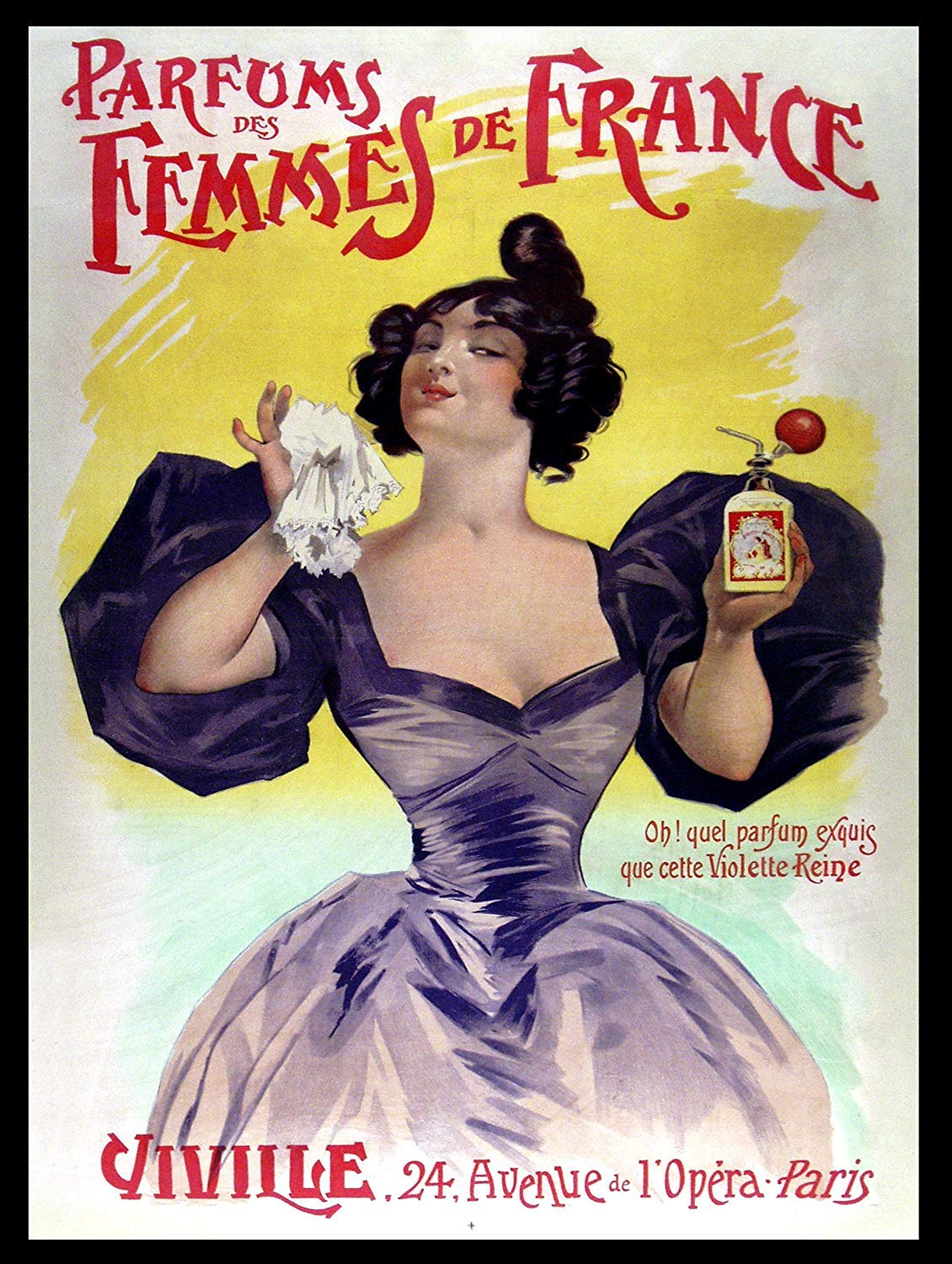 KELLEN WHITEHEAD PARFUMS des Femmes DE France Retro Metal TIN Wall Plaque Sign Novelty Gift Affiche de d/écoration dr/ôle de Panneau de Mur en m/étal Art
