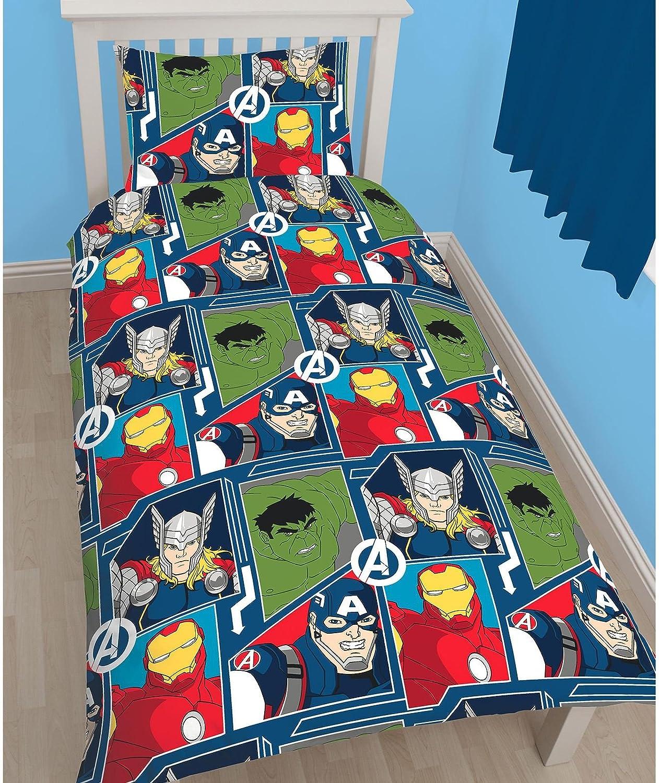 Marvel Avengers Tech UK Single//US Twin Reversible Duvet Cover Set
