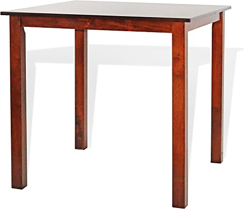 Dining Square Kitchen Table Contemporary Design Solid Wooden