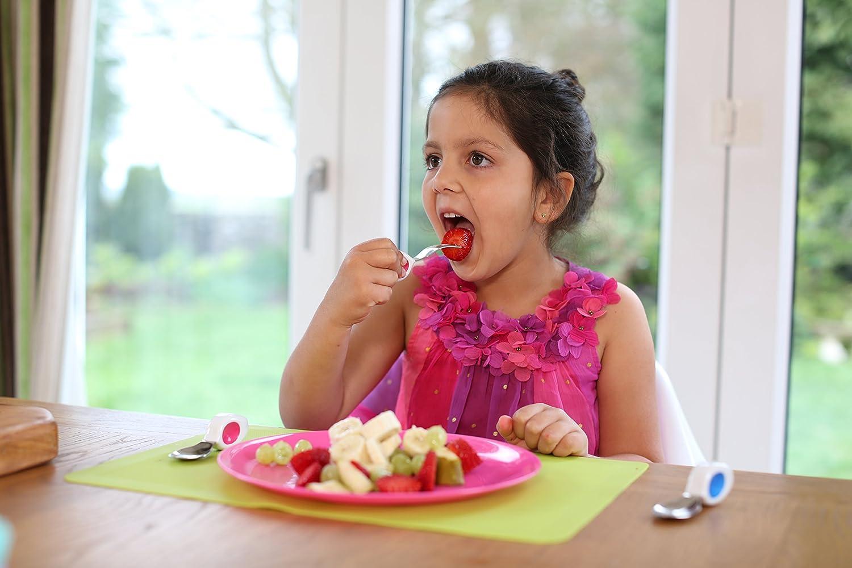ergonomisches Kinder Besteck hilft ihrem Kind sich selbst zu f/üttern und Geschirr richtig zu benutzen Kleinkinder und Babies 12 Monate Doddl L/öffel /& Gabel Besteckset f/ür Kinder Heidelbeerblau