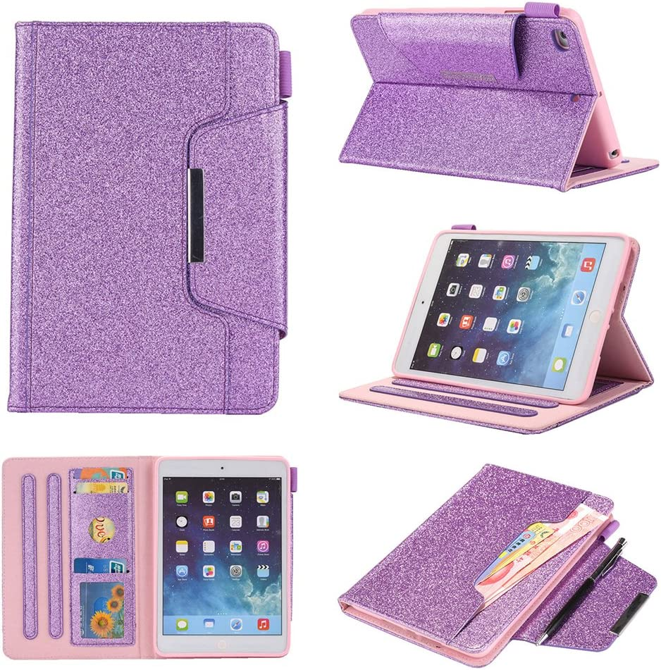 UK-Cherry iPad Mini 4 Case,iPad Mini 3 Case,iPad Mini 2 Case,iPad Mini Case,PU Leather Wake//Sleep Folio Smart Cover Stand Wallet Case for iPad Mini 1//2//3//4,Pink