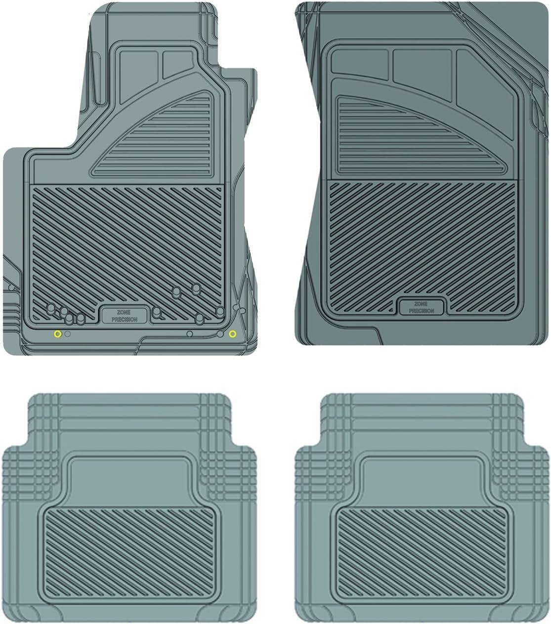 Koolatron Pants Saver Custom Fit 4 Piece All Weather Car Mat for Select Toyota Tundra Models 17712 Black