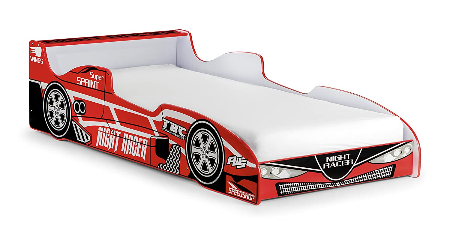 Racing Car Bed Frame Kids Single 90 x 200 cm with Slatted Frame Deuba