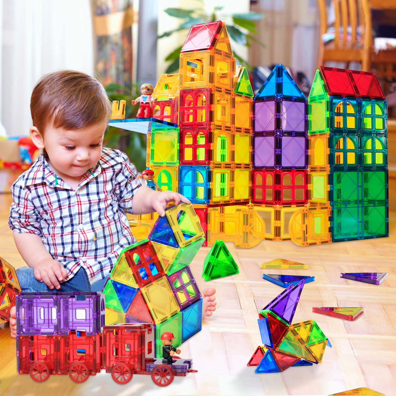 Magblock 66 PCS Magnetic Building Blocks, Magnetic Tiles for Kids Toys丨Magnet Toys Set 3D Building Blocks for Toddler Boys and Girls by Magblock (Image #7)