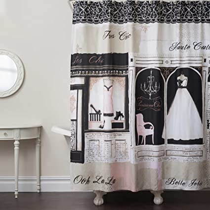 Parisienne Chic Fabric Shower Curtain