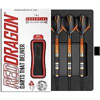 Amberjack 23, 25 of 27 Gram Wolfraam Steeltip Dartpijlen Professioneel Set met flights en dart shafts