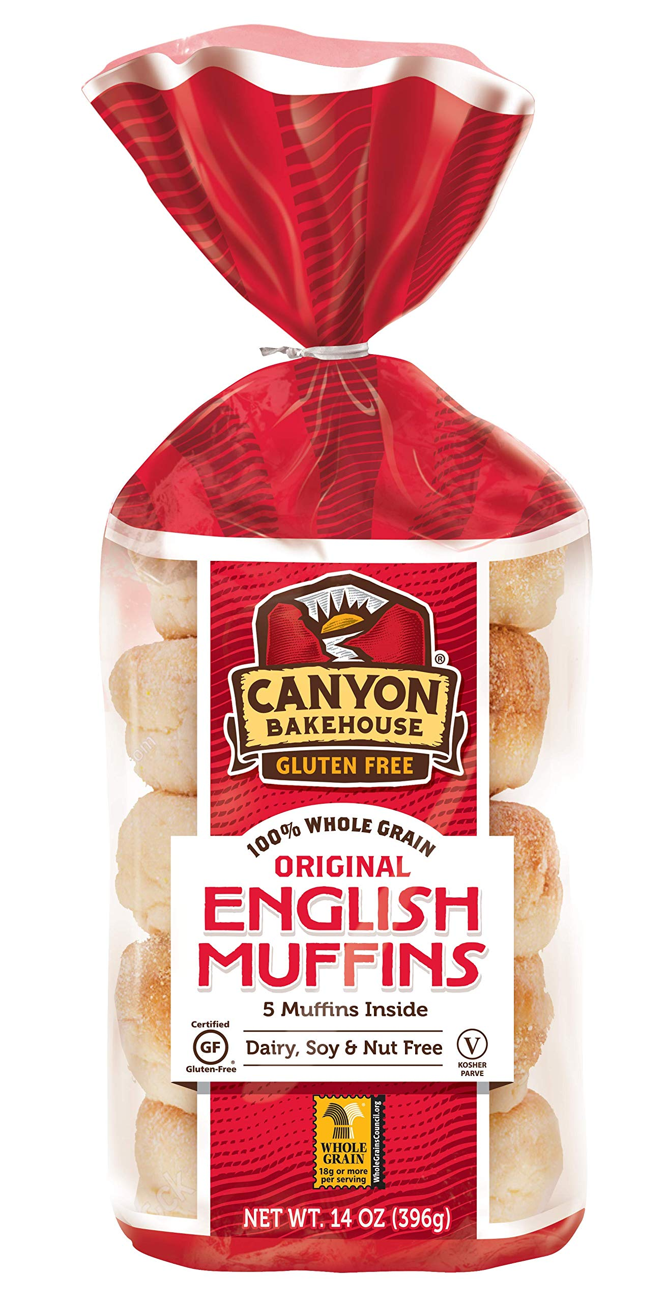 Canyon Bakehouse Gluten-free English Muffins, 14 Ounce [3 Pack] by Canyon Bakehouse