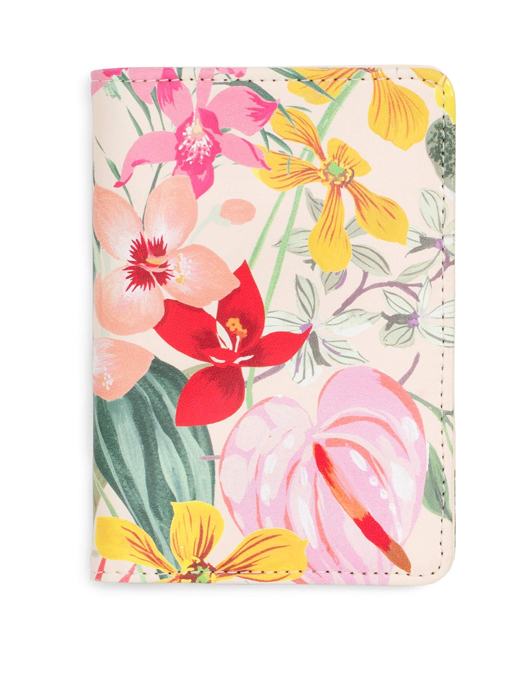 ban.do Women's Getaway Leatherette Passport Holder/Cover with Card Slots, Paradiso by ban.do
