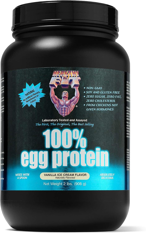 Healthy 'n Fit 100% Egg Protein,Vanilla Ice Cream,2-pound Bottle