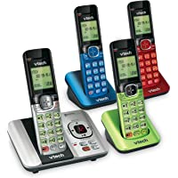 VTech CS6529-4B 4-Handset DECT 6.0 Cordless Phone with Answering System and Caller ID,… photo