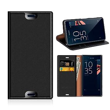Mobesv Funda Sony Xperia X Compact, Funda Cuero, Carcasa en Libro, Ranuras para Tarjetas, Soporte para Sony Xperia X Compact - Negro