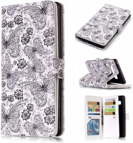 Samsung Galaxy S9 Plus Flip Case Cover for Leather Luxury Business Kickstand Card Holders Mobile Phone case Flip Cover