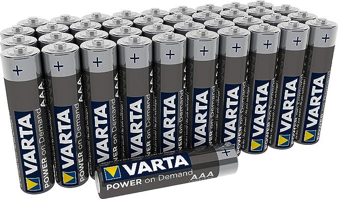 Varta Alkaline AA or AAA batteries