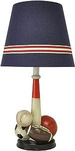 """22.5"""" Mult-Sport Table Lamp Basketball Football Soccer Baseball Desk Lamp Kid Bedroom Decoration Light"""