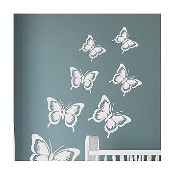 SOPHIE MARIPOSA Mobiliario Muro Plantilla para pintar - X Grande: Amazon.es: Bricolaje y herramientas