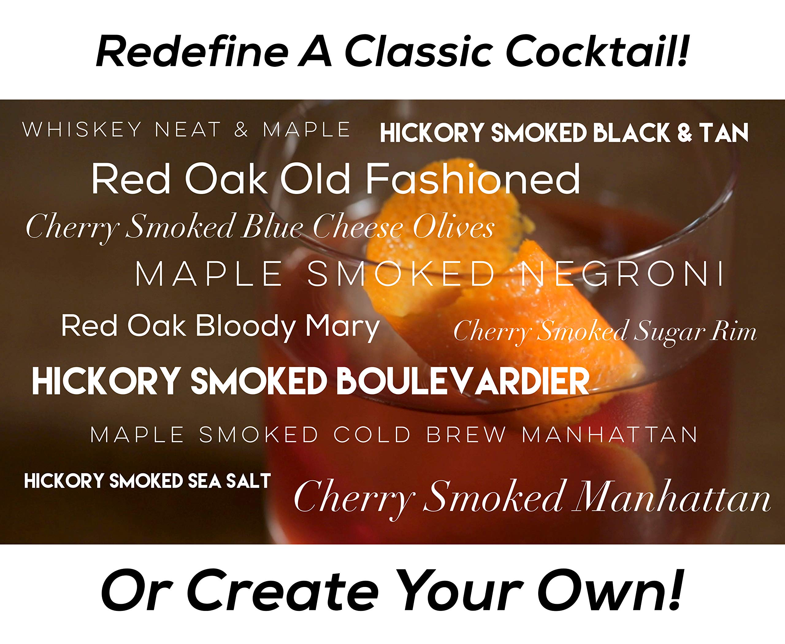 Cube of Smoke - Smoked Cocktail Kit, Four Hardwood Cubes, Classic Cocktail Recipe Book