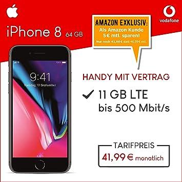 Apple Iphone 8 64gb Speicher Handy Mit Vertrag 11gb Amazonde