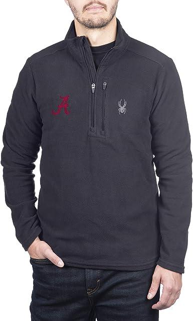 Spyder Mens Transport Quarter Zip Premium Fleece Gameday Pullover