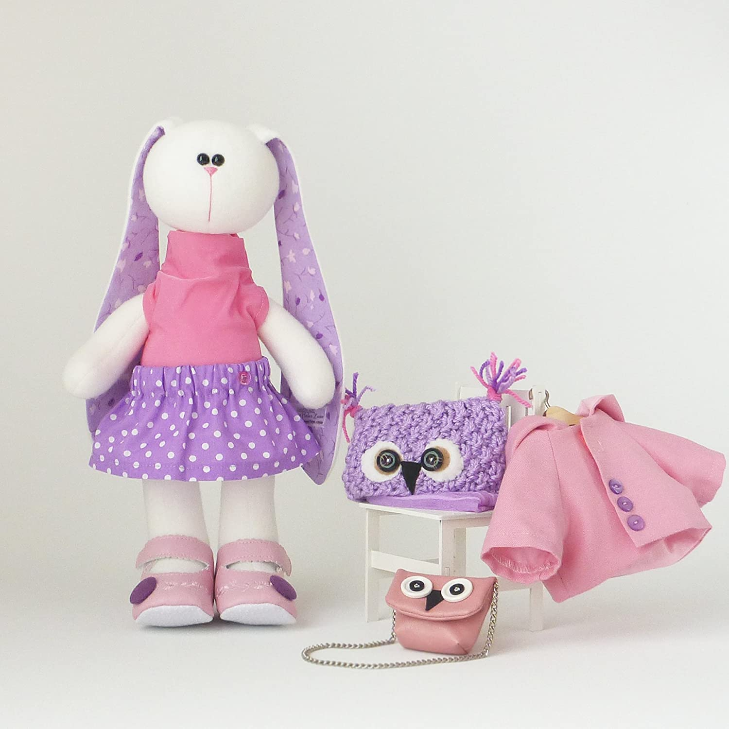 Extra set of clothes for girl rabbit doll 14.5 clothes fits for toys ZuzuHappyToys