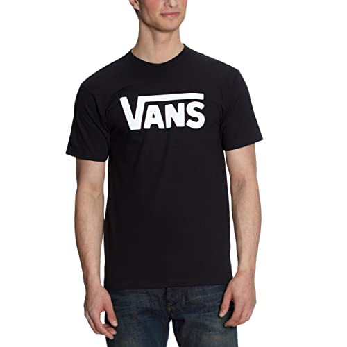 Vans Classic VGGG, Camiseta Para Hombre, Negro (Black/White), L