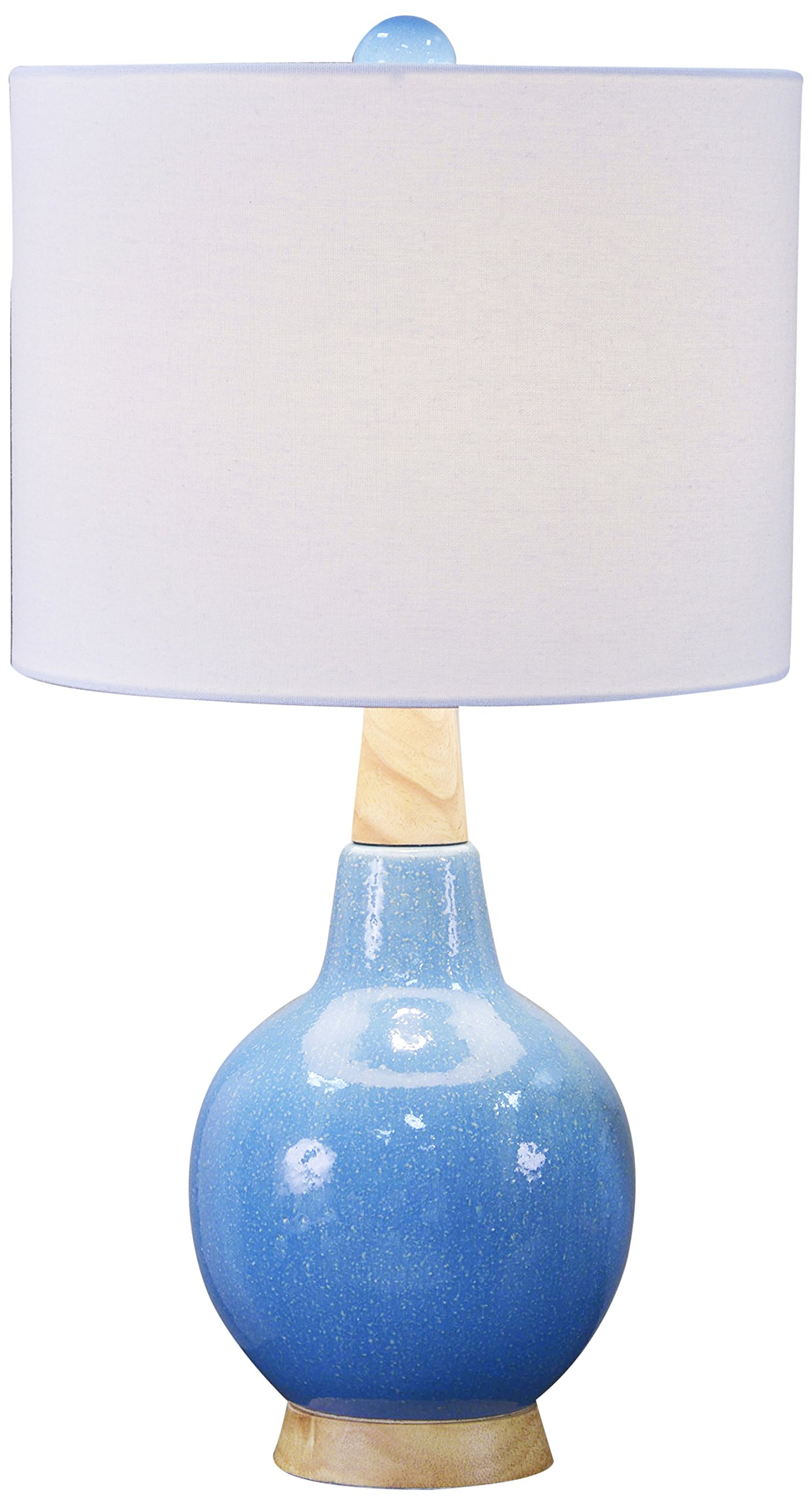 Décor Therapy TL17214 Table Lamp, Spa Blue Speckled