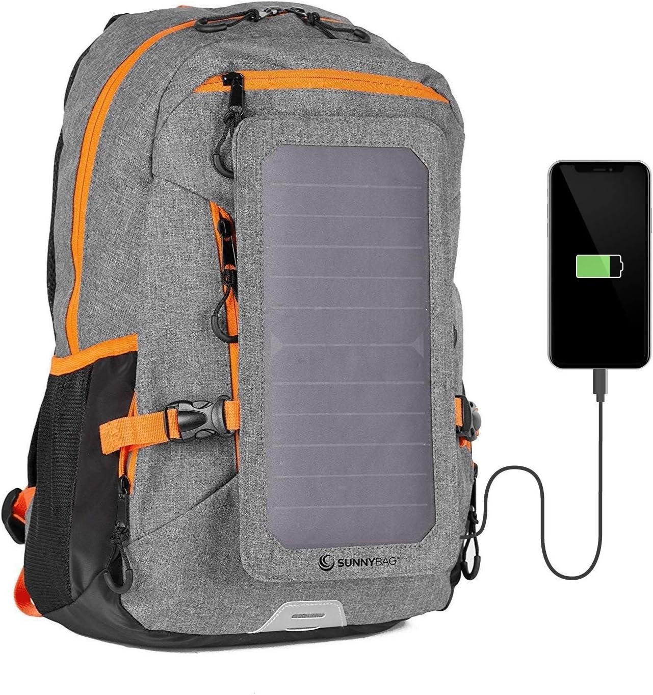 SunnyBAG Mochila con Panel Solar de 6W para Cargar el teléfono móvil