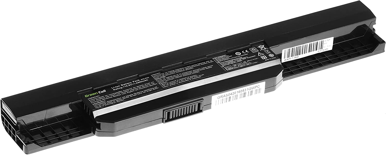 Green Cell/® Standard Serie A32-K53 A41-K53 Bater/ía para ASUS A43 A43U A53T A54 K43 K53J K54 K54C X53B X53BR X53BY X53SC X53SD X53SG X53TA X53TK X53Z X54HR X54XB Ordenador 6 Celdas 4400mAh 10.8V