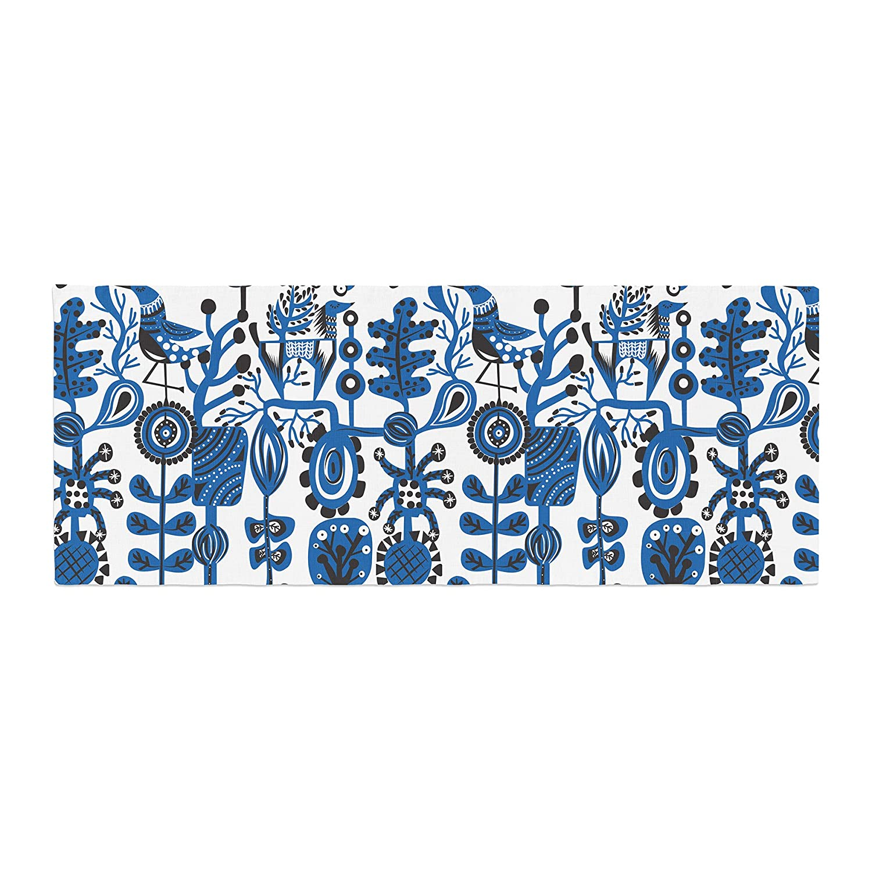 Kess InHouse Agnes Schugardt Dream Blue White Bed Runner
