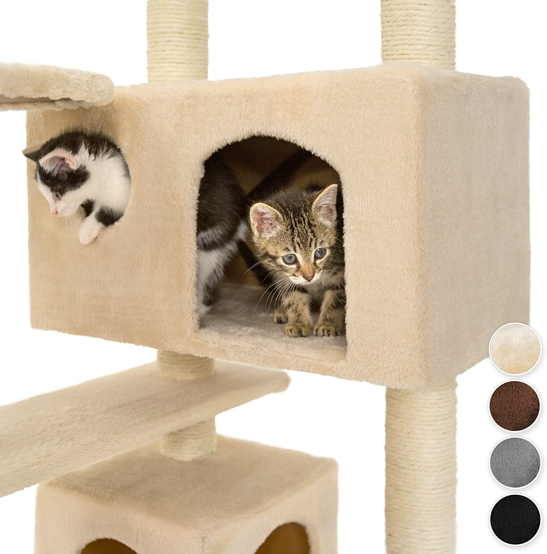 TecTake Rascador para Gatos /Árbol para Gatos Trepar Sisal Juguetes Beige   no. 400575