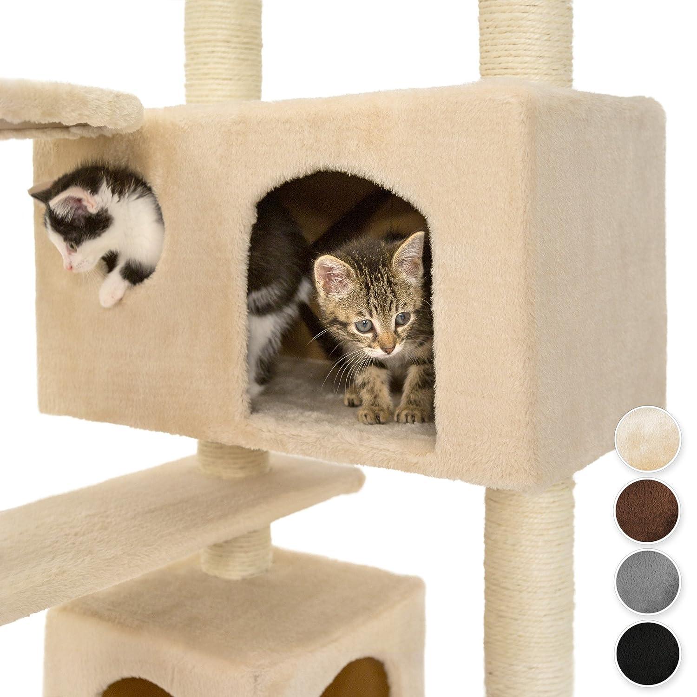 TecTake Rascador para Gatos Árbol para Gatos Trepar Sisal Juguetes (Beige | no. 400575): Amazon.es: Hogar