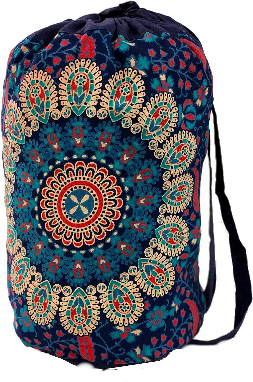 Trade Star Bolsa Indian Star Mandala, Mochila Unisex, Bolsa de Playa Boho, Mochilas Multiusos, Bolsa de algodón, Bolsas de Gimnasio, Mochila Causal (Pattern 11): Amazon.es: Deportes y aire libre