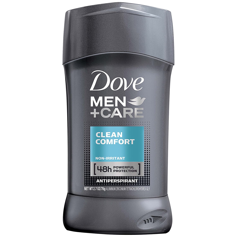 Dove Men+Care Antiperspirant Deodorant Stick, Clean Comfort, 2.7 Ounce (Pack of 6)