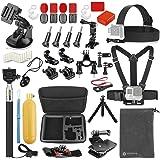 Vanwalk Sport camera Accessories Kit for Gopro Hero 5, Session 5, 4/3+/3/2, DBPOWER, AKASO, Canany, Lightdow, SJCAM, Xiao mi Yi 2/4K Action Video Cameras (For AKASO)