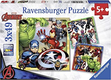 Marvel Avengers 3 in a Box Puzzles Featuring Thor Captain America Hulk Iron Man and More Ages 5+: Amazon.es: Juguetes y juegos