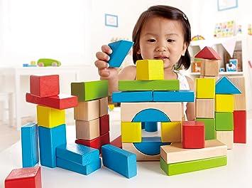 E0409 50 Pieces Hape Maple Wooden Block Set