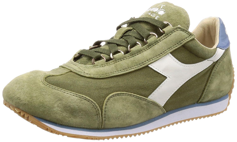 Diadora Heritage - Sneakers Equipe Stone Wash 12 para Hombre y Mujer EU 45.5 - US 11.5 - UK 11 (cm 29.5)|C7436 - Hierba Seca Verde-azul Sombreado